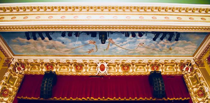 Painting inside Thalian Hall