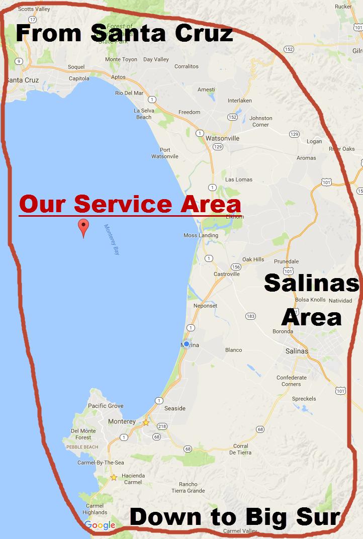 CoastDreamProperties.com Service Area