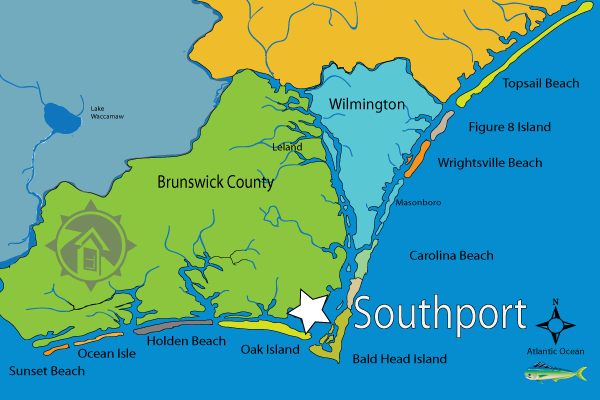 Map Of Southport North Carolina Pictures To Pin On