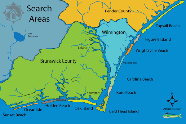 Coastal North Carolina Homes - Map of north carolina coast