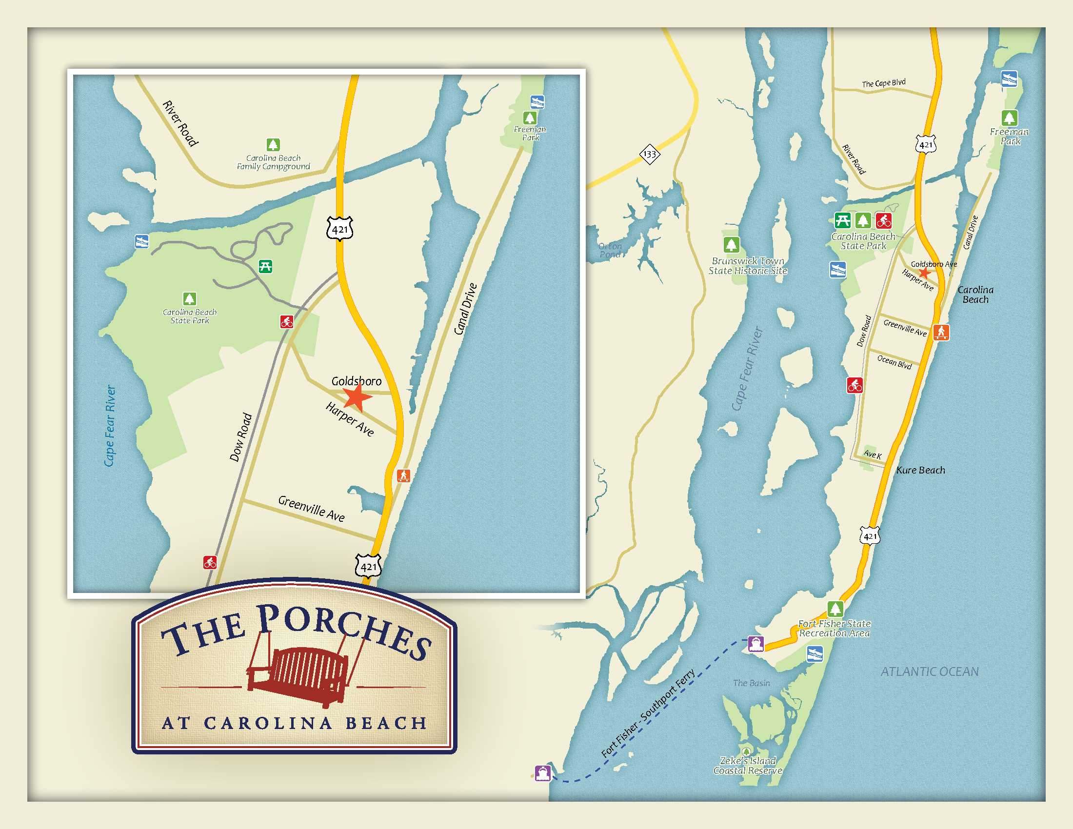 The Porches - Carolina Beach Cottages on st. helena nc map, cowee nc map, butters nc map, arapahoe nc map, united states nc map, springfield nc map, boone nc map, myrtle grove nc map, beaufort nc map, cary nc map, northampton nc map, north carolina map, ranlo nc map, new hanover county nc map, alliance nc map, cedar rock nc map, bath nc map, durants neck nc map, wilmington nc map, mt. mitchell nc map,