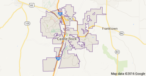 Castle Rock Colorado Map and Homes for Sale