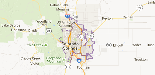 Colorado Springs Homes For Sale - Colorado springs on us map