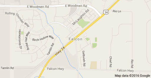 Falcon Colorado Map and Homes for Sale