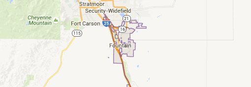 Fountain Colorado Map, Information, and Homes for Sale
