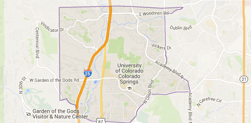 Northeast Colorado Springs Map, Information, and Real Estate Home for Sale