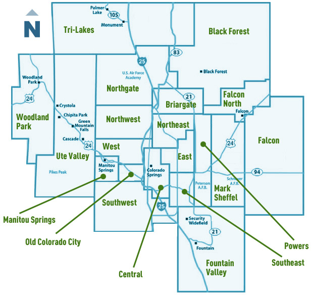 Colorado Springs MLS Map - Search All Colorado Springs Neighborhoods