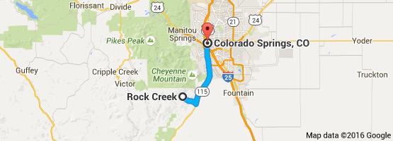 Rock Creek Colorado Springs Map