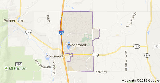 Woodmoor Colorado Map and Homes for Sale