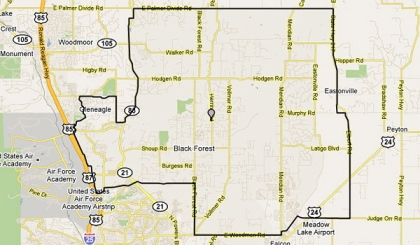 Search Black Forest foreclosures for sale by map