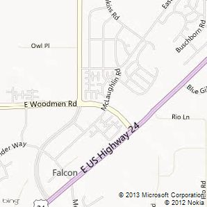Search Falcon North foreclosure Homes for Sale by map