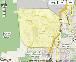 Search Northwest Colorado Springs foreclosure homes for sale by map