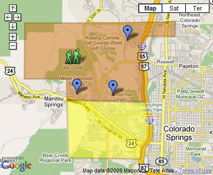 Search West Colorado Springs Foreclosure   Homes for Sale by map