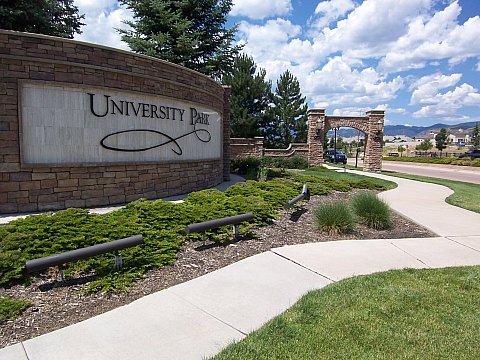 Entry to University Park Colorado Springs