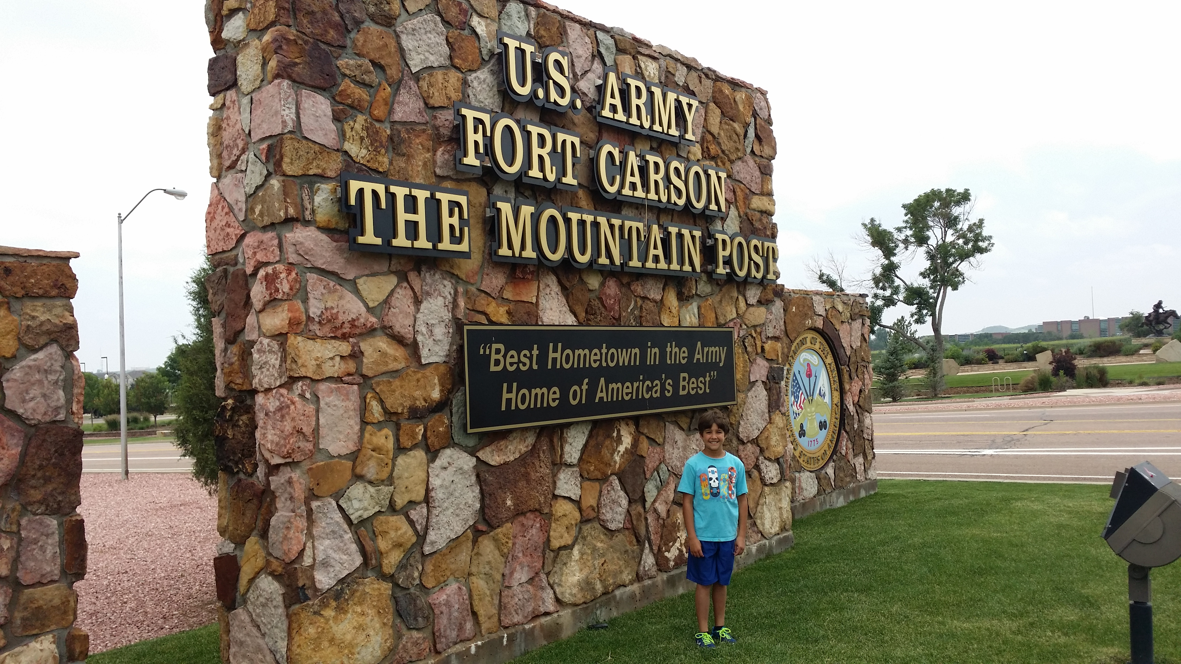 Fort Carson Colorado Main Entry Gate