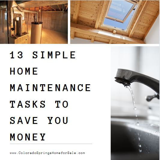 13 home maintenance tasks