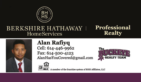 Alan Rafiyq Realtor - The Buckeye Realty Team - Berkshire Hathaway HomeServices Professional Realty