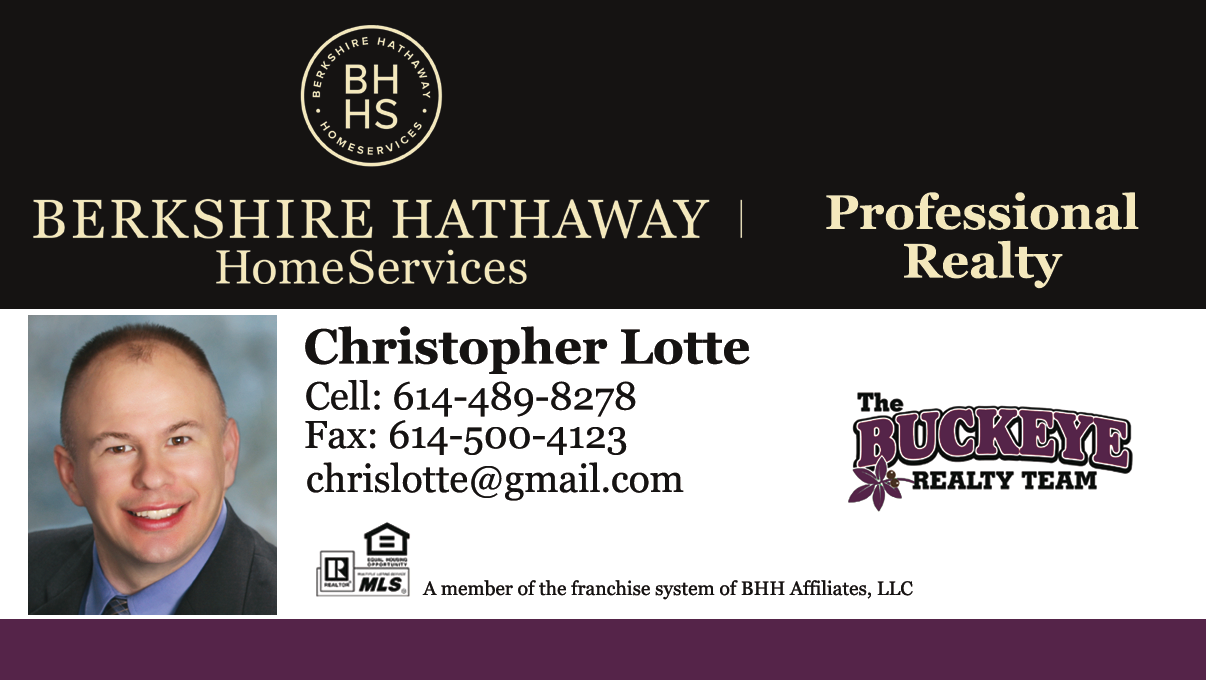 Christopher Lotte Realtor - The Buckeye Realty Team - Berkshire Hathaway HomeServices Professional Realty
