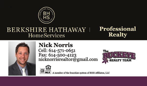 Nick Norris Realtor - The Buckeye Realty Team - Berkshire Hathaway HomeServices Professional Realty
