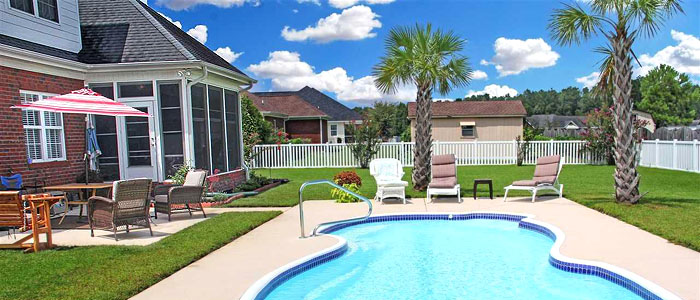Homes with Pools in Keighley Estates