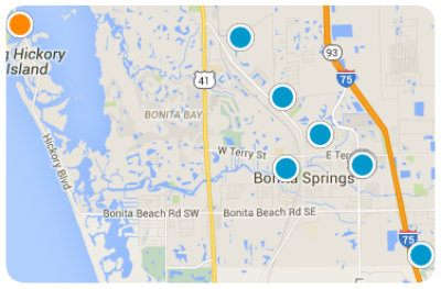 Bonita Springs Map
