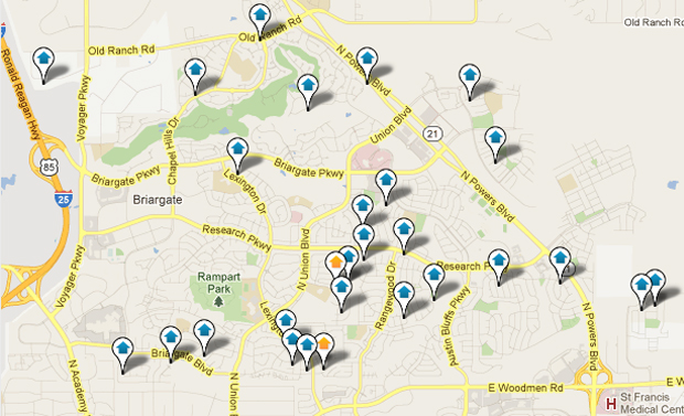 Briargate Real Estate Map Search