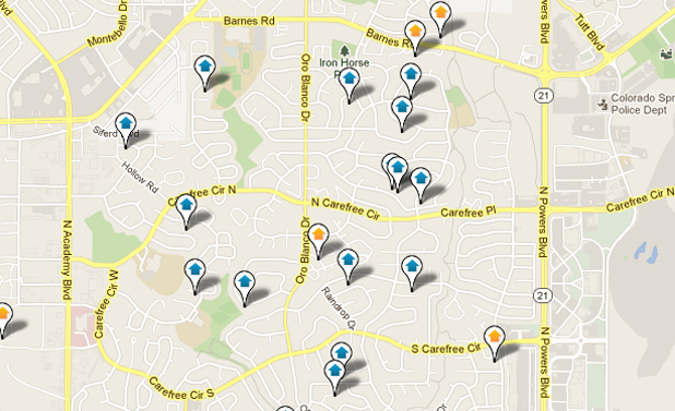 East Colorado Springs Real Estate Map Search