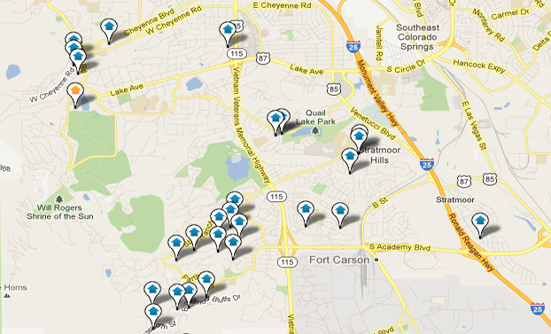 Fort Carson Real Estate Map Search