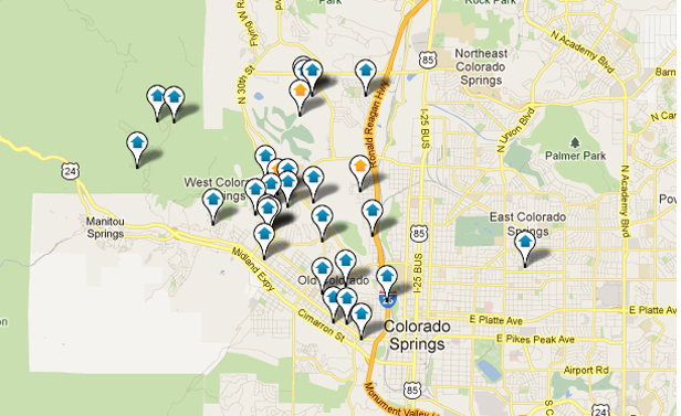 West Colorado Springs Real Estate Map Search