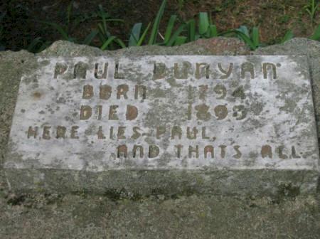 Paul Bunyans Grave Site