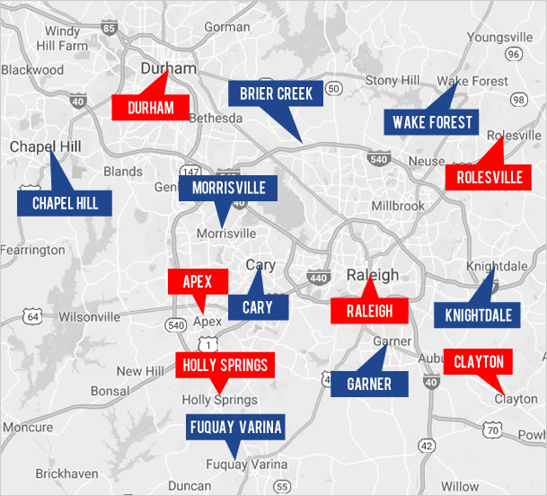 Explore Raleigh Real Estate by Map