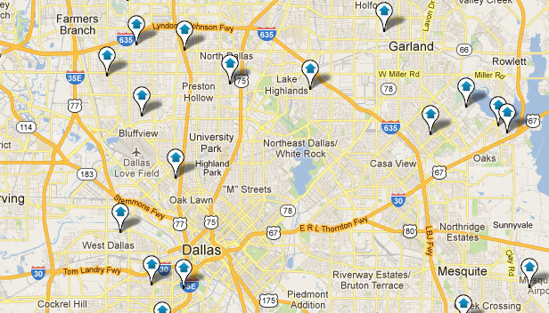 Dallas Homes for Sale Map Search