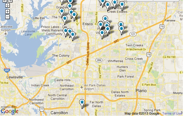 Frisco Homes for Sale Map Search