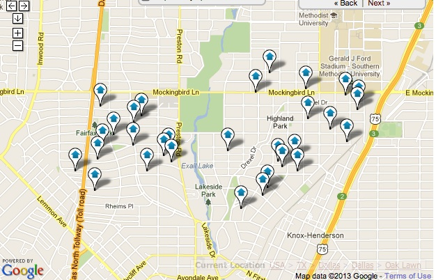 Highland Park Homes for Sale Map Search