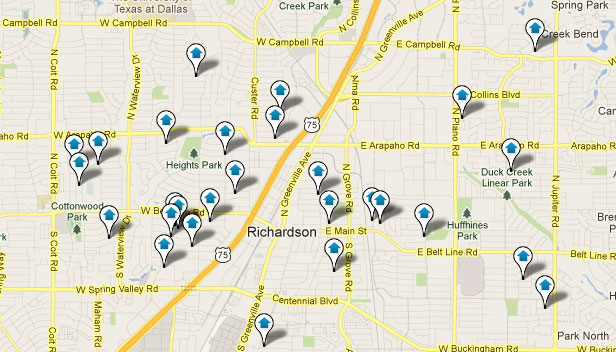 Richardson TX Map Home Search