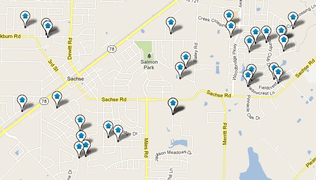 Sachse TX Real Estate Map Search