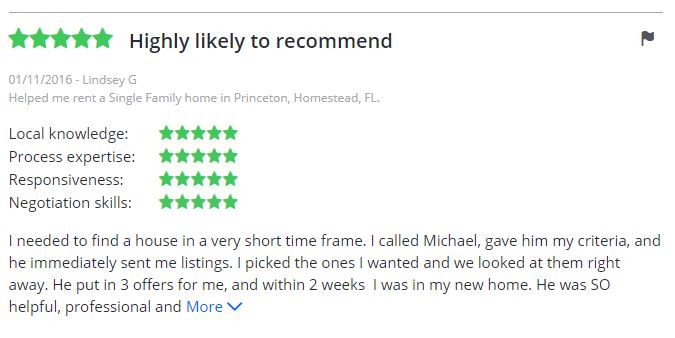 Michael Williams - Dallas Houses and Condos - Testimonial -Zillow