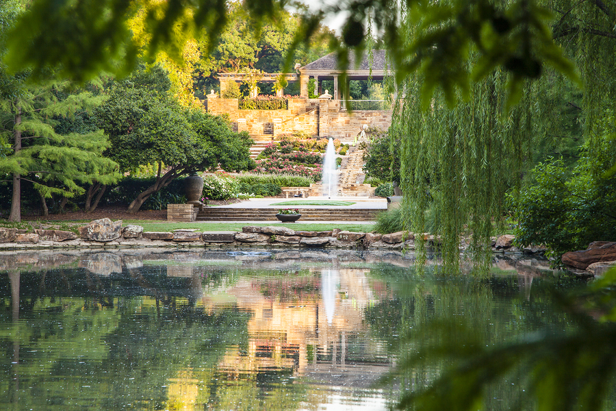 Visit beautiful Fort Worth real estate at the Botanic Garden.