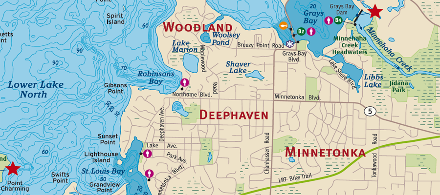 MAP: Deephaven MN Homes for Sale
