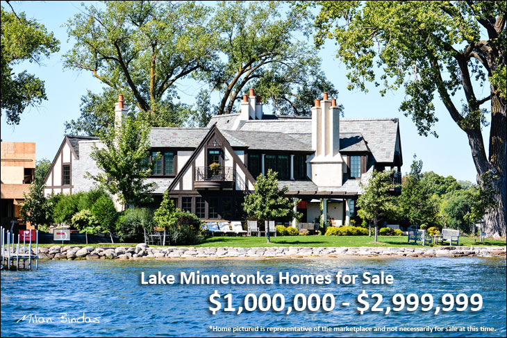Lake Minnetonka Homes for Sale $1,000,000 - $2,999,999