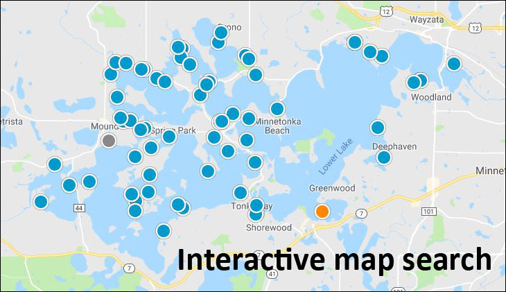 Lake Minnetonka Real Estate - Interactive map search