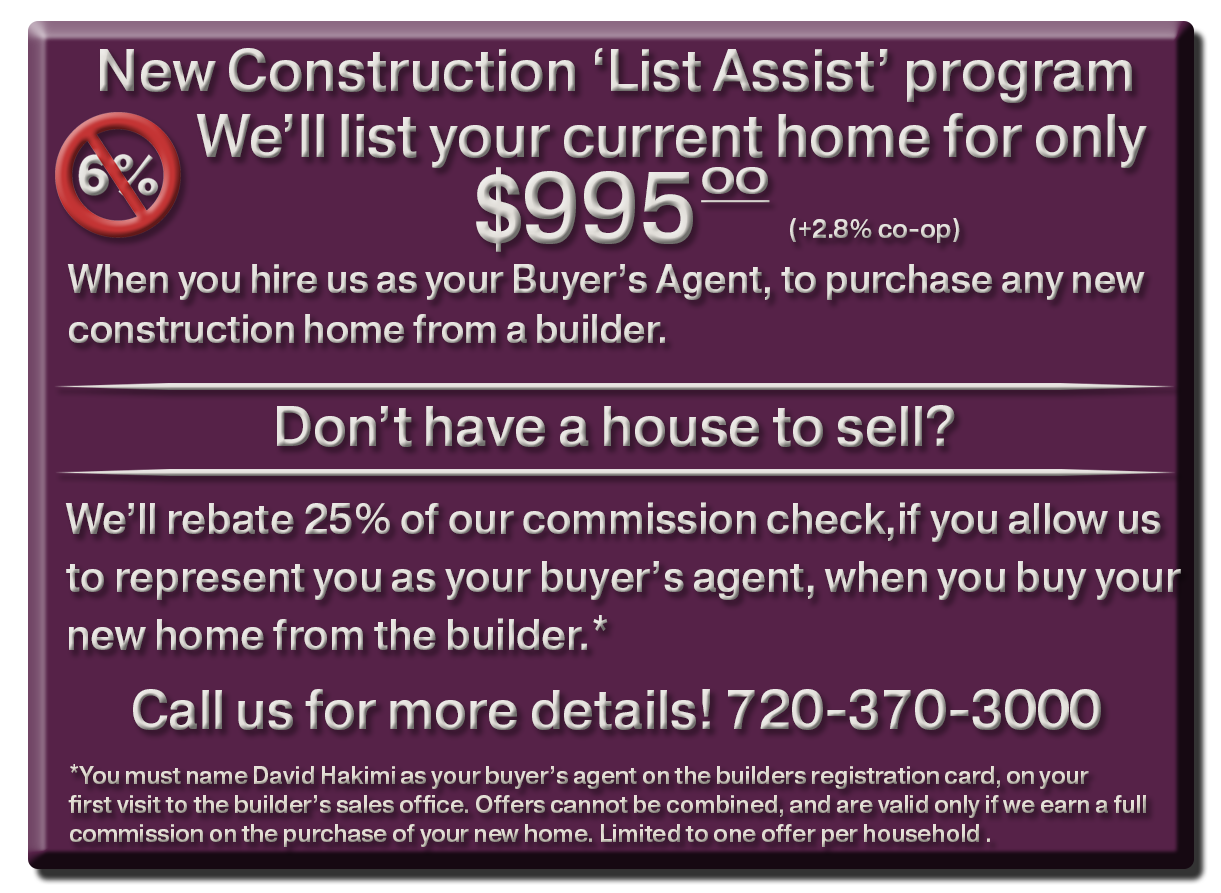 Denver agents offering commission rebates on new construction