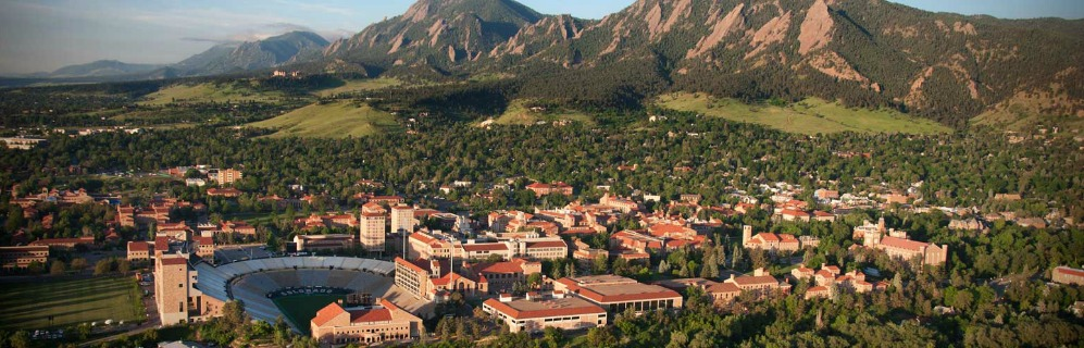 Boulder Colorado Aerial View - David Hakimi Team