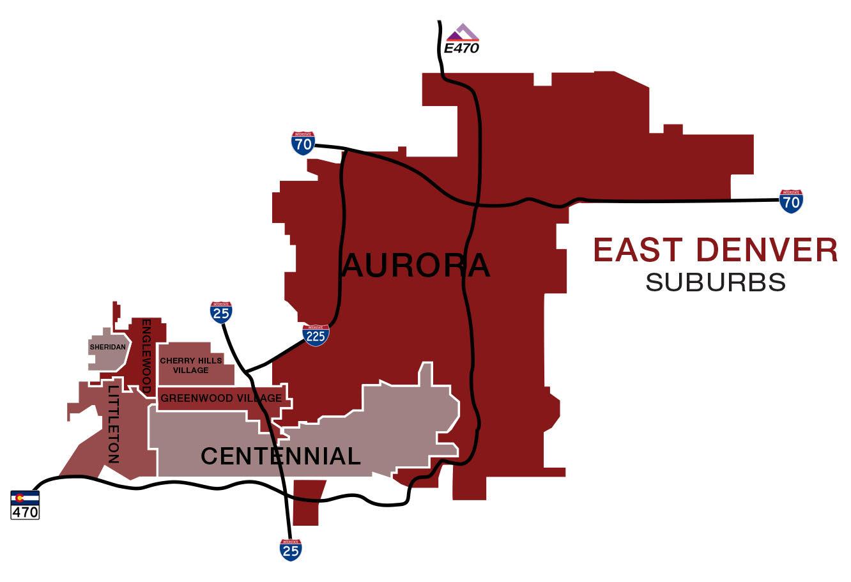 East Denver Suburbs Map