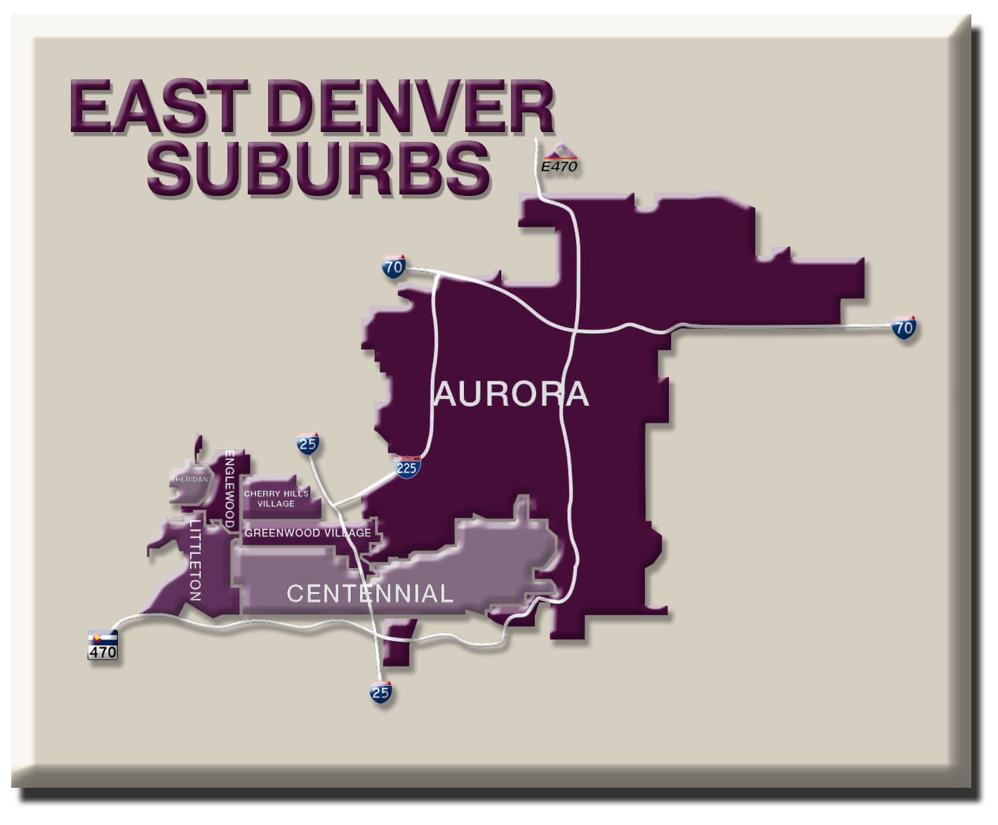 Denver Metro Map on