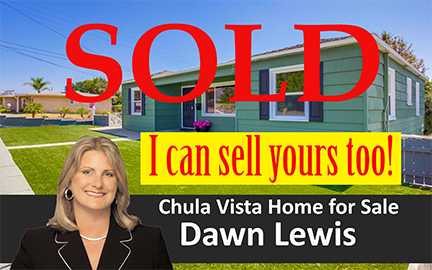 Chula Vista Home SOLD by Dawn Lewis