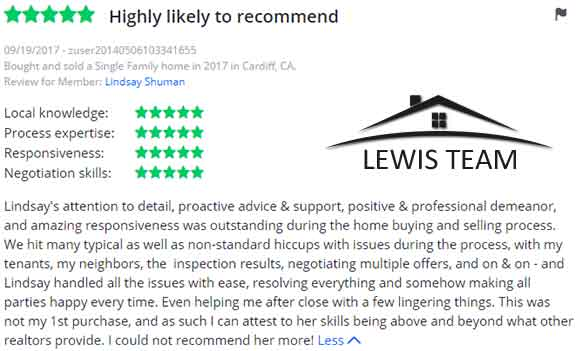 5 Star Real Estate Review of The Lewis Team San Diego Real Estate Experts