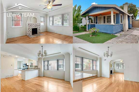 City Heights California Craftsman Bungalow San Diego by The Lewis Team