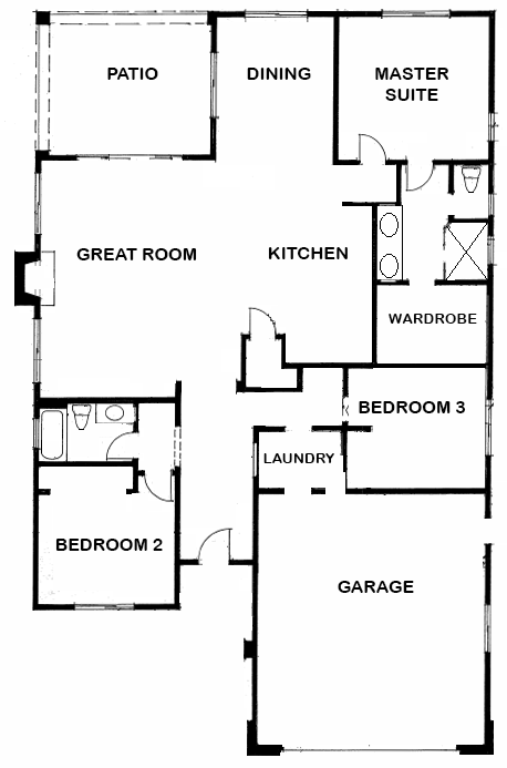 San Diego Home Floorplan New Construction