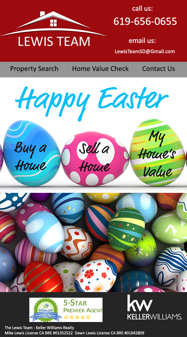 Happy Easter from The Lewis Team San Diego Real Estate Experts
